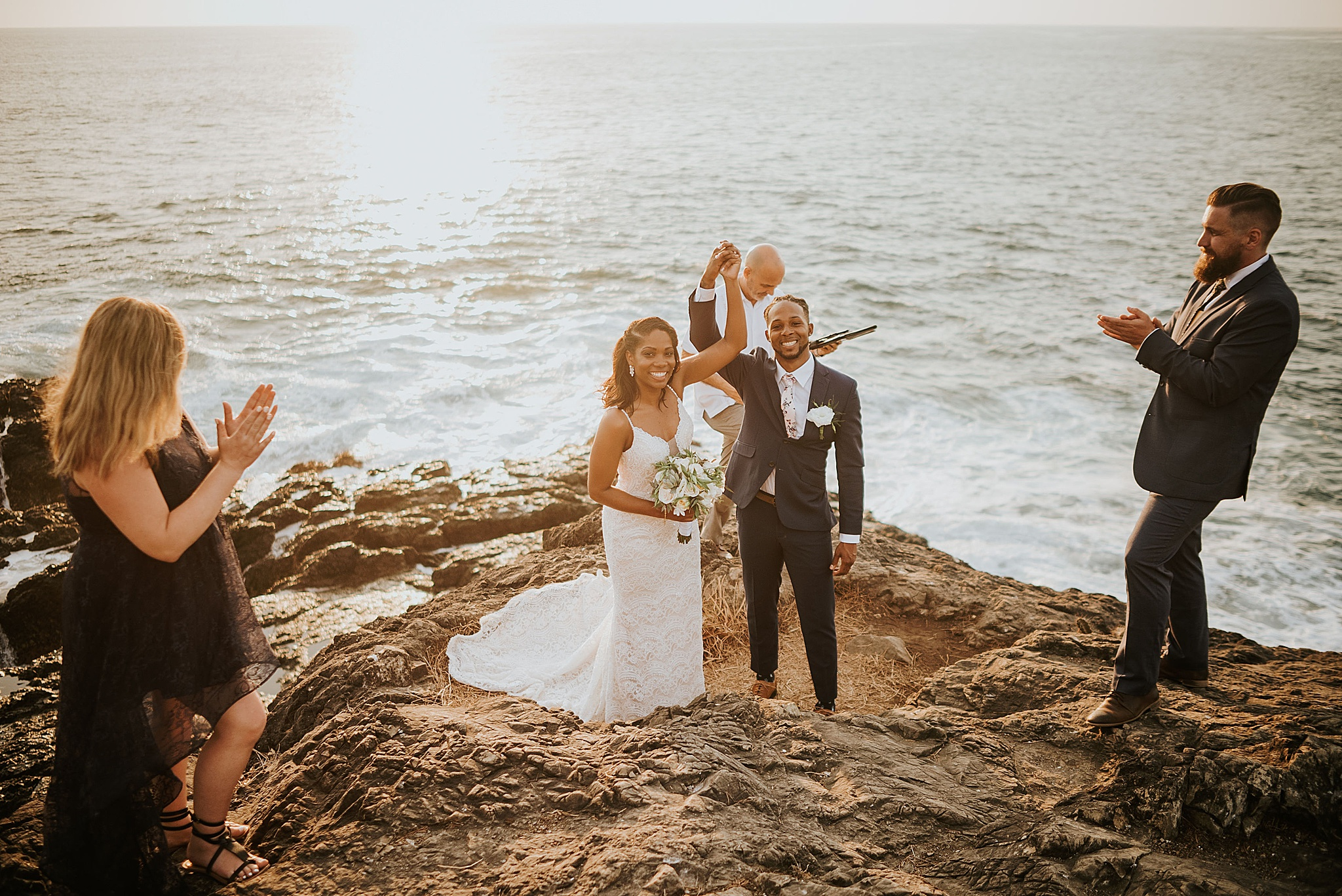 Beach wedding Nosara elopement
